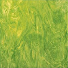 Spectrum Lime Green and White - Translucent - 3mm - Non-Fusible Glass Sheets