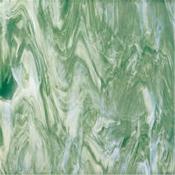 Spectrum Seafoam Green and White Translucent - 3mm - Non-Fusible Glass Sheets
