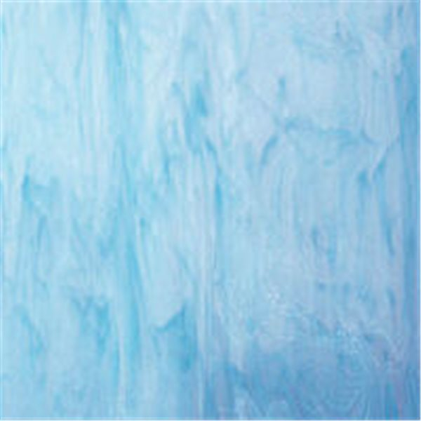 Spectrum White Swirled with Sky Blue - 3mm - Non-Fusible Glass Sheets