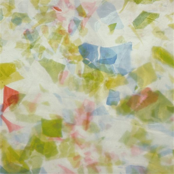Uroboros Light Green Blue on White - Fracture - 3mm - Non-Fusible Glas Tafeln