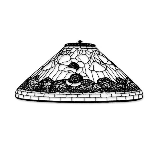 Odyssey - 20inch Poppy - Lamp Pattern