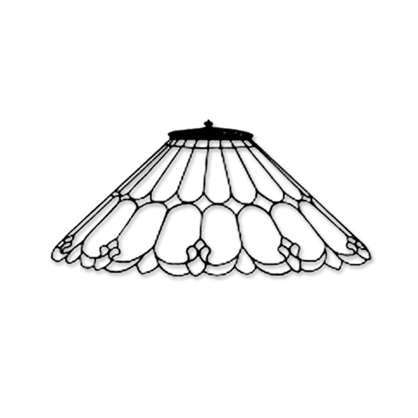 Odyssey - 20inch Art Nouveau - Lamp Mold