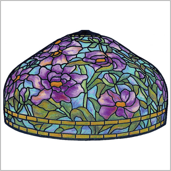 Worden - Peony T - B24 - Pattern on 1/6 Sectional Lamp Form
