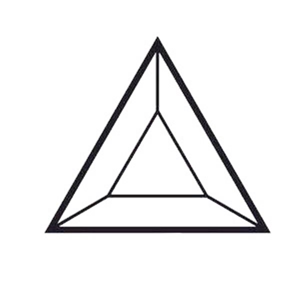 Bevel Triangle - 76x76x76mm