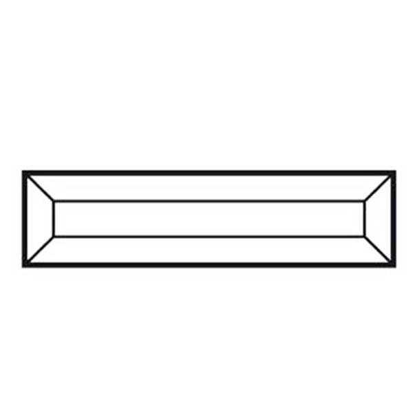 Bevel Rectangle - 152x38mm