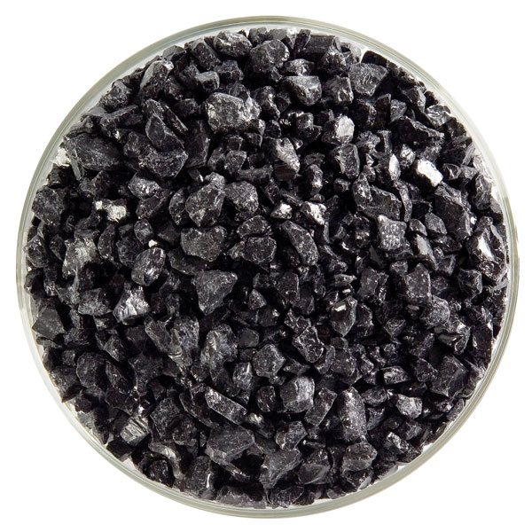 Bullseye Frit - Black - Coarse - 2.25kg - Opalescent