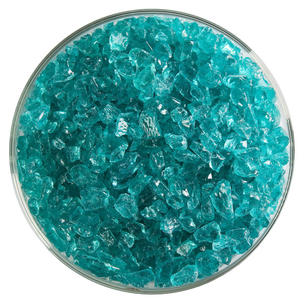 Bullseye Frit - Light Aquamarine Blue - Coarse - 2.25kg - Transparent