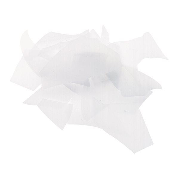 Bullseye Confetti - White - 50g - Opalescent