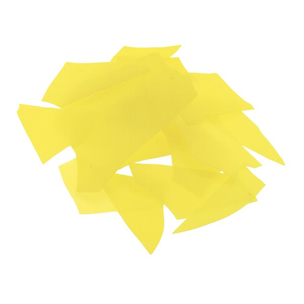 Bullseye Confetti - Canary Yellow - 50g - Opalescent