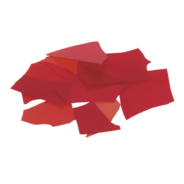 Bullseye Confetti - Red - 50g - Opalescent