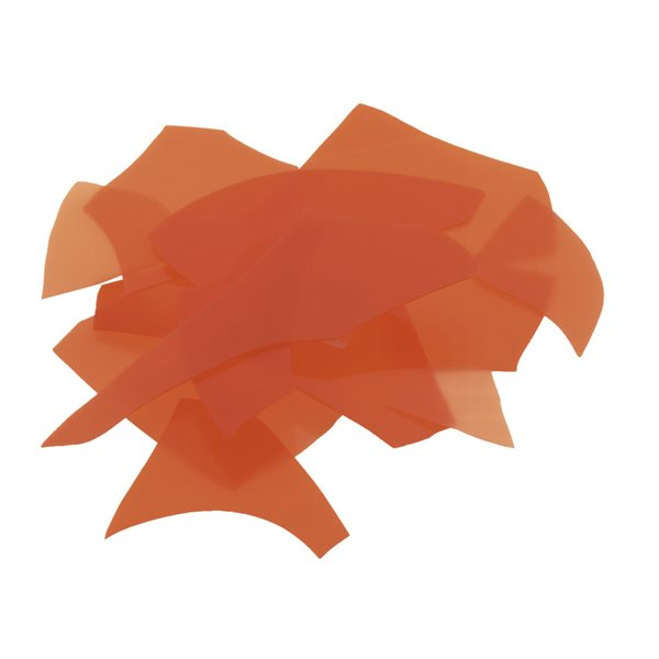 Bullseye Confetti - Orange - 450g - Opalescent