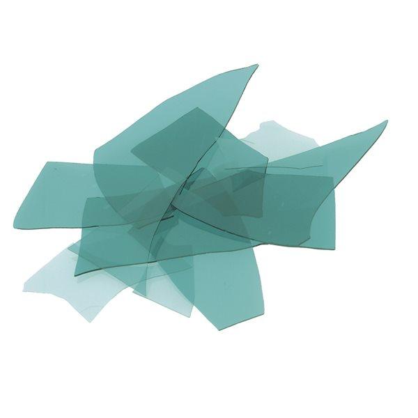 Bullseye Confetti - Aquamarine Blue - 50g - Transparent