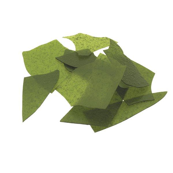 Bullseye Confetti - Light Aventurine Green - 450g - Transparent