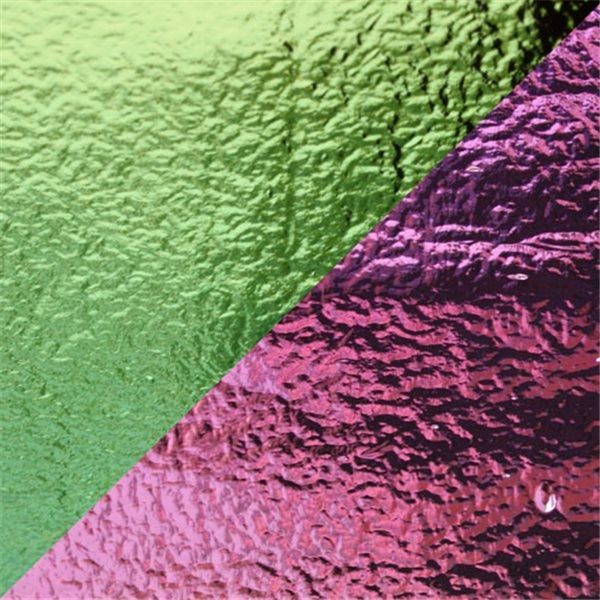 Dichroic - Teal/Light Pink - On Thin Black - 2mm
