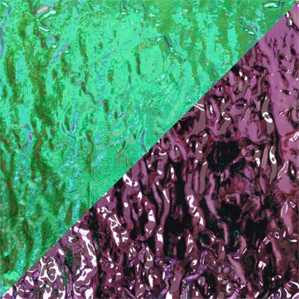 Dichroic - Teal/Light Pink - Granite - On Clear - 3mm