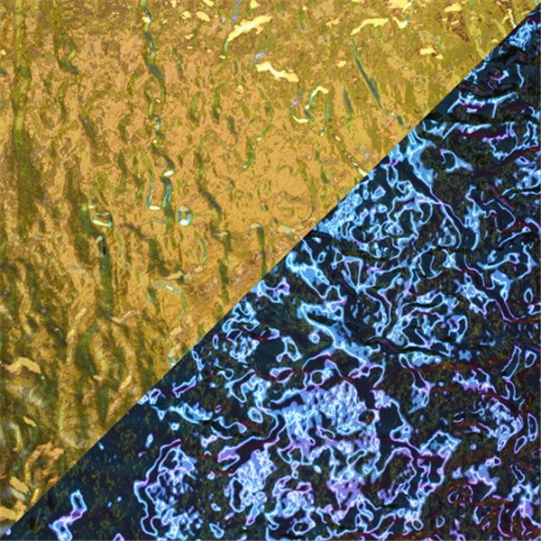 Dichroic - Yellow-Green/Magenta - Granite - On Clear - 3mm