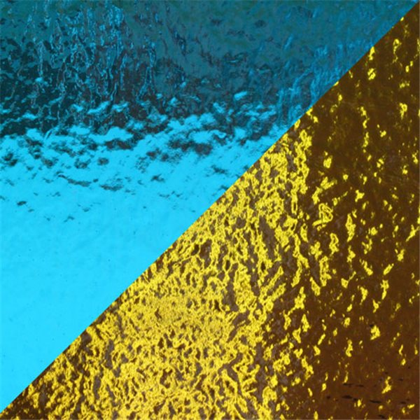Dichroic - Light Blue/Gold - On Thin Clear - 2mm