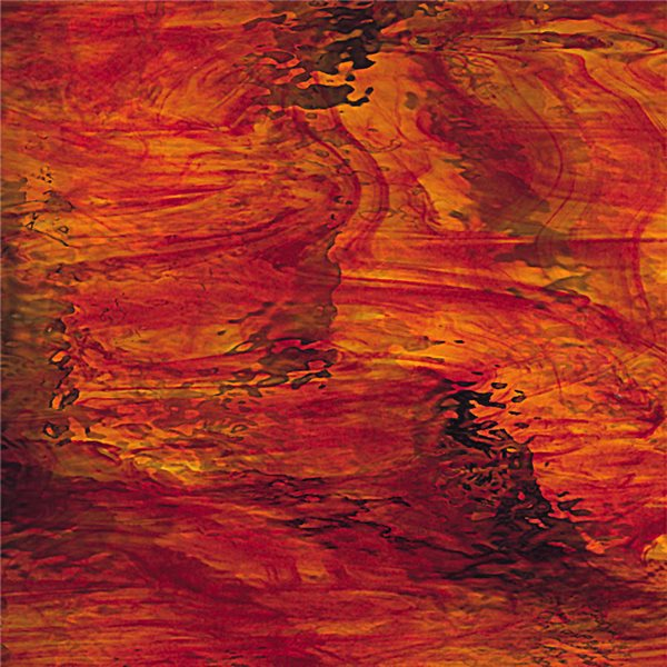 Spectrum Ruby Red and Amber - Waterglass - 3mm - Non-Fusible Glass Sheets