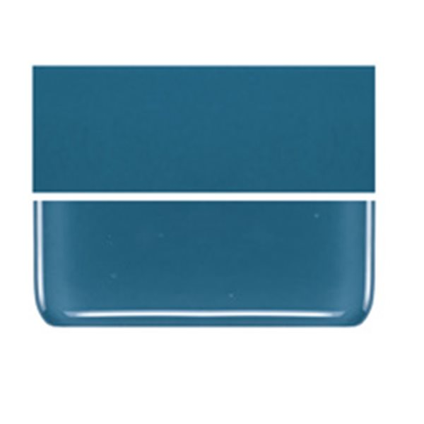 Bullseye Steel Blue - Opalescent - 2mm - Thin Rolled - Fusible Glass Sheets