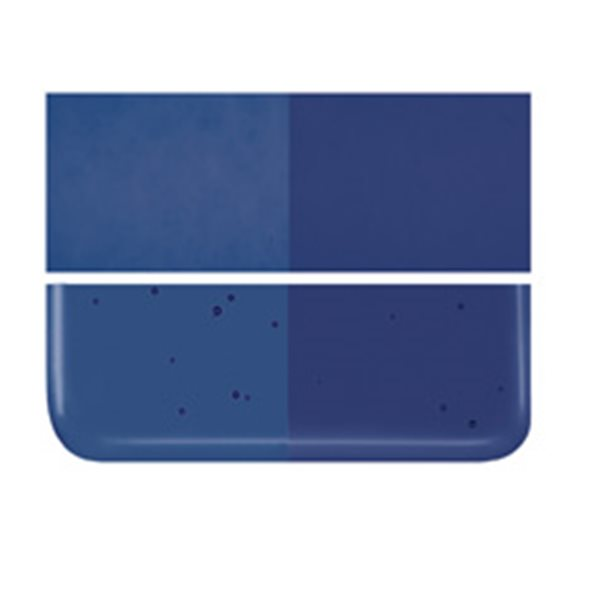 Bullseye Midnight Blue - Transparent - 2mm - Thin Rolled - Fusing Glas Tafeln