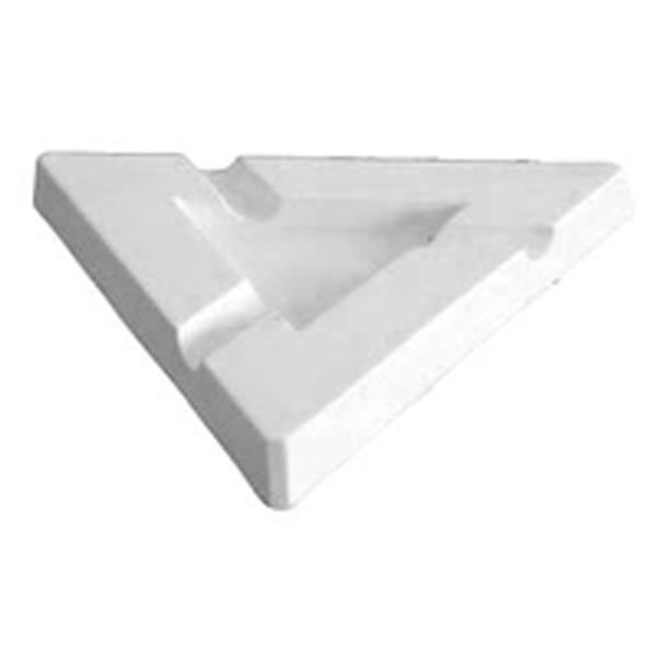 Ashtray - Triangular - 22.5x22.5x2.5cm - Base: 10.5x10.5cm - Fusing Mould