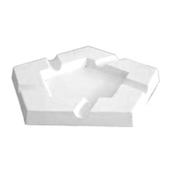 Ashtray - Penta - 25x25x2.5cm - Base: 14.4x14.4cm - Fusing Mould