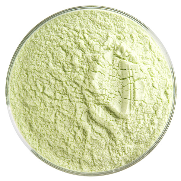 Bullseye Frit - Spring Green - Powder - 450g - Transparent