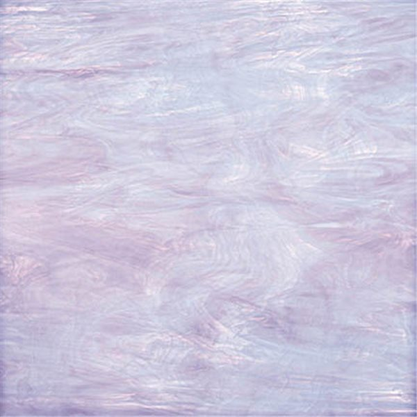 Spectrum Pale Lavender and White - Translucent - 3mm - Non-Fusible Glass Sheets