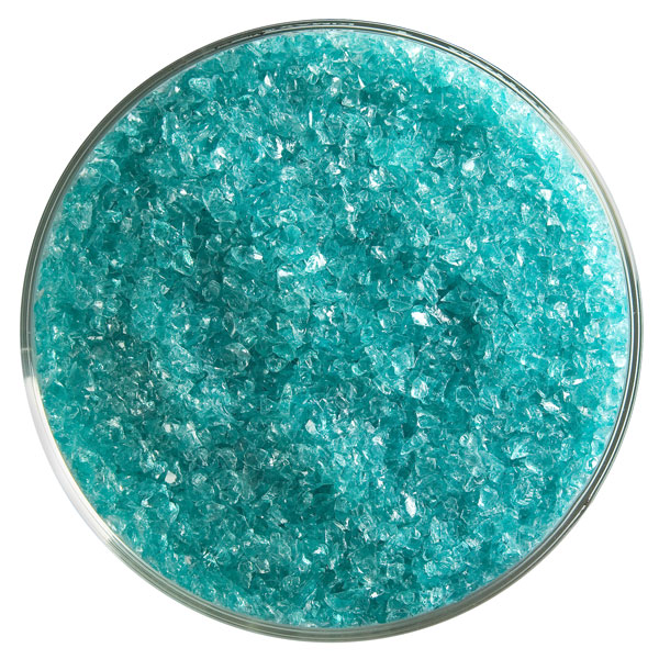 Bullseye Frit - Light Aquamarine Blue - Medium - 450g - Transparent