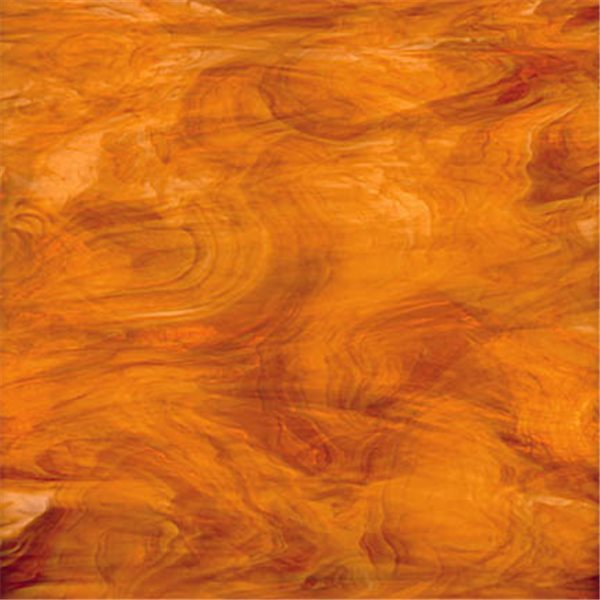 Spectrum Medium Amber and White - Translucent - 3mm - Non-Fusible Glass Sheets