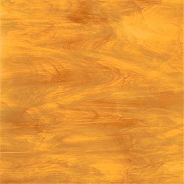 Spectrum Light Amber Lamp Mix - Translucent - 3mm - Non-Fusible Glass Sheets