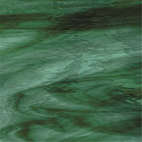 Spectrum Deep Olive On Sea Green Streaky - 3mm - Non-Fusible Glass Sheets