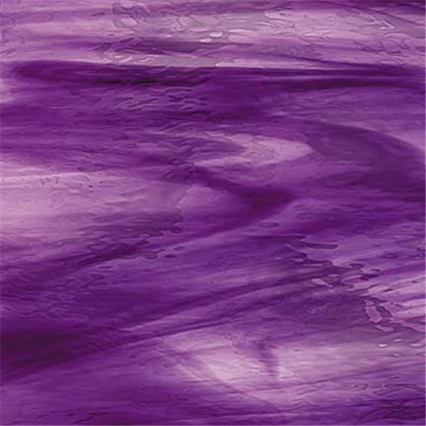 Spectrum Deep Violet On Purple Streaky- Waterglass - 3mm - Non-Fusible Glass Sheets