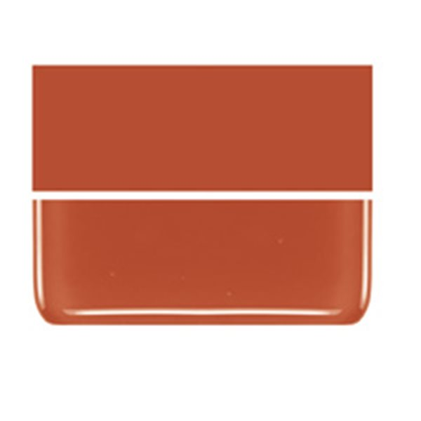 Bullseye Pimento Red - Opalescent - 3mm - Fusible Glass Sheets