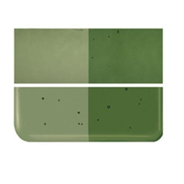 Bullseye Olive Green - Transparent - 3mm - Fusing Glas Tafeln