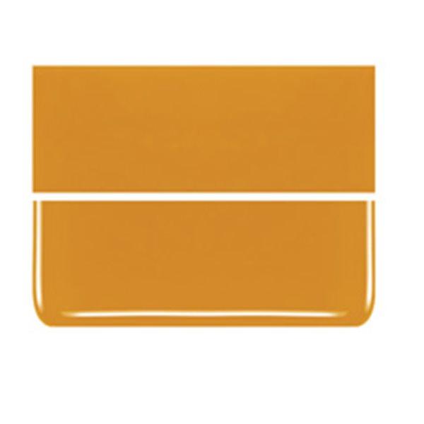 Bullseye Pumpkin Orange - Opalescent - 2mm - Thin Rolled - Fusible Glass Sheets