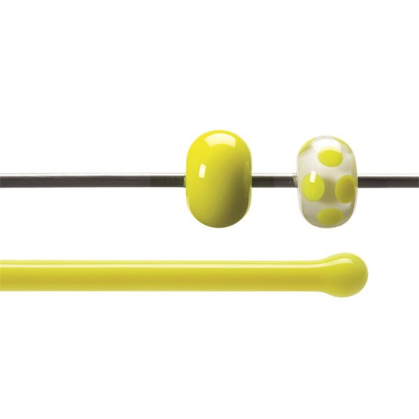 Bullseye Rods - Canary Yellow - 4-6mm - Opalescent