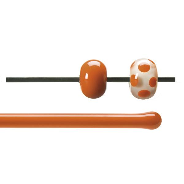Bullseye Rods - Orange - 4-6mm - Opalescent