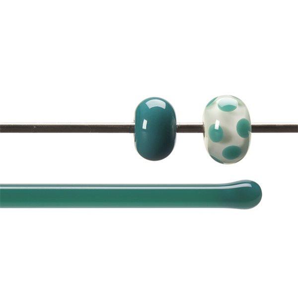 Bullseye Rods - Teal Green - 4-6mm - Opalescent