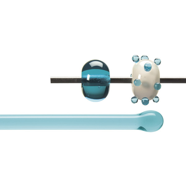 Bullseye Rods - Light Aquamarine Blue - 4-6mm - Transparent