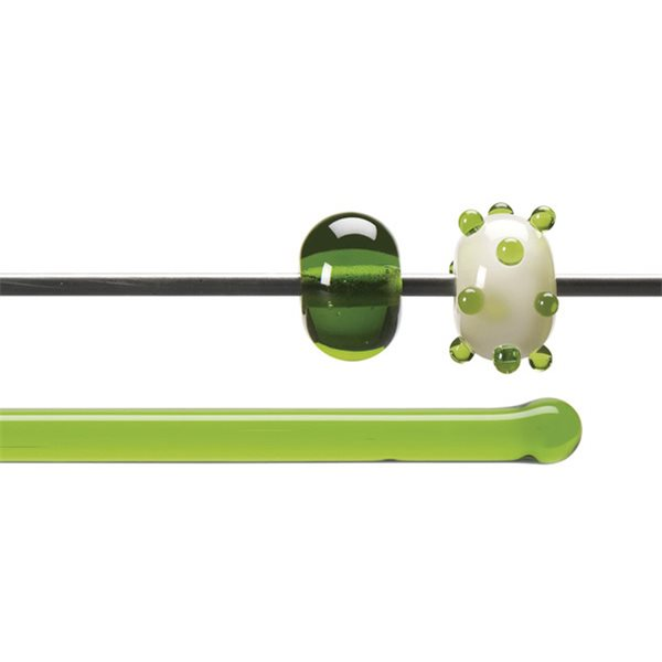 Bullseye Rods - Spring Green - 4-6mm - Transparent