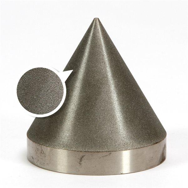 """Diamond Cone - 360 grit - 3x3"""" (76x76mm) - 60°"""