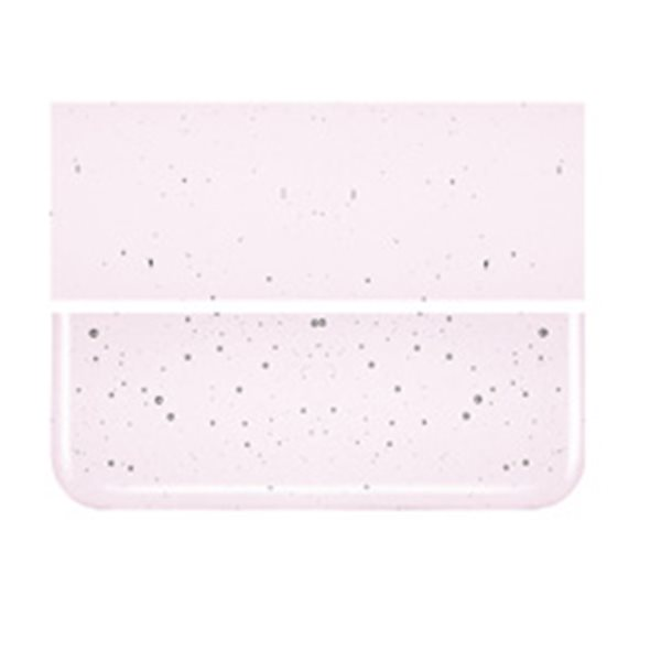 Bullseye Erbium Pink Tint - Transparent - 3mm - Fusible Glass Sheets