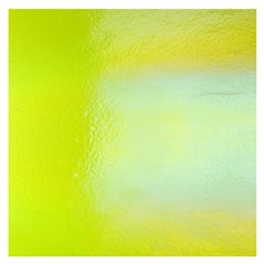 Bullseye Spring Green - Transparent - Rainbow Iridescent - 3mm - Fusible Glass Sheets