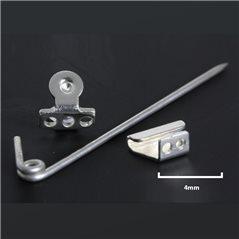 Brooch Pinback - Silver 980/925 - 35mm - 1pc