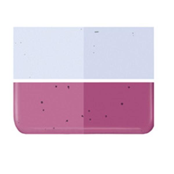 Bullseye Light Pink Striker - Transparent - 2mm - Thin Rolled - Fusing Glas Tafeln