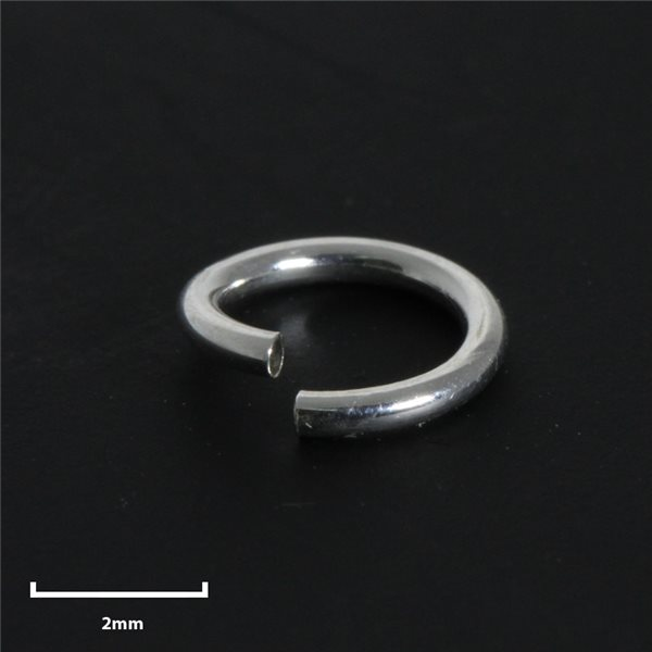 Round Jump Ring - Silver 925 - 4mm - 50pcs