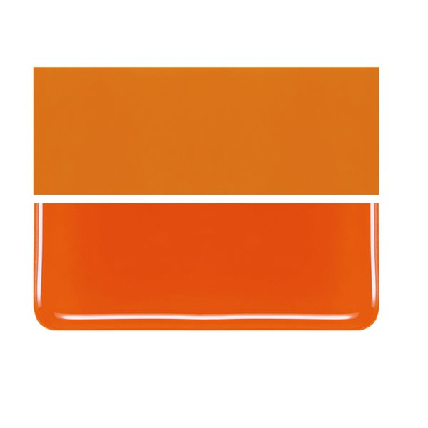Bullseye Spicy Orange - Opalescent - 3mm - Fusible Glass Sheets