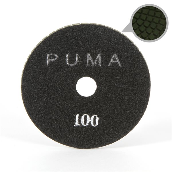 Smoothing Pad Diamond Resin - 100mm - 100 grit - Black