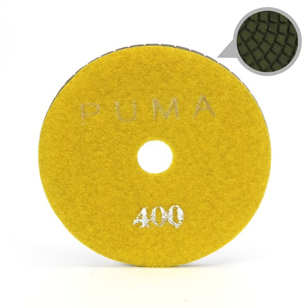 Smoothing Pad Diamond Resin - 100mm - 400 grit - Yellow